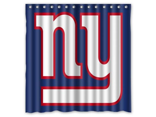 New York Giants 04 NFL Design Polyester Fabric Bath Shower Curtain 180x180 Cm Waterproof And Mildewproof