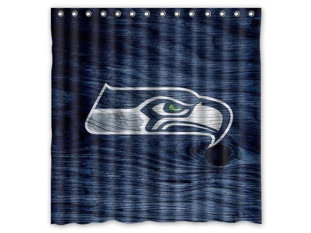 Seattle Seahawks 01 NFL Design Polyester Fabric Bath Shower Curtain 180x180 Cm Waterproof And Mildewproof