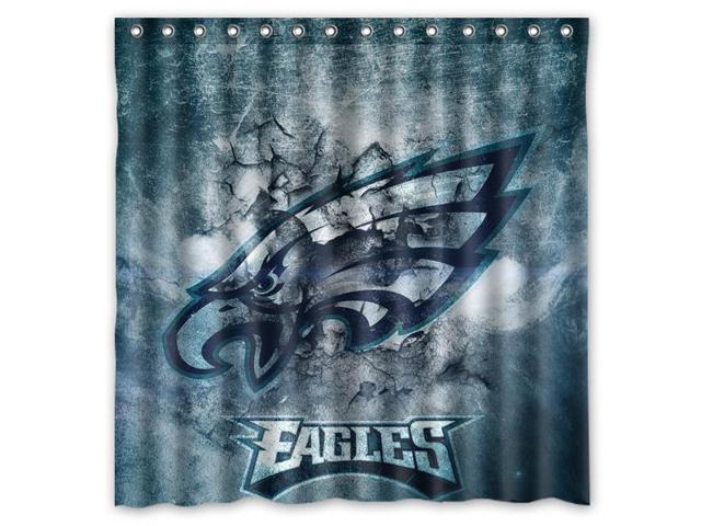 Philadelphia Eagles 02 NFL Design Polyester Fabric Bath Shower Curtain 180x180 Cm Waterproof And Mildewproof