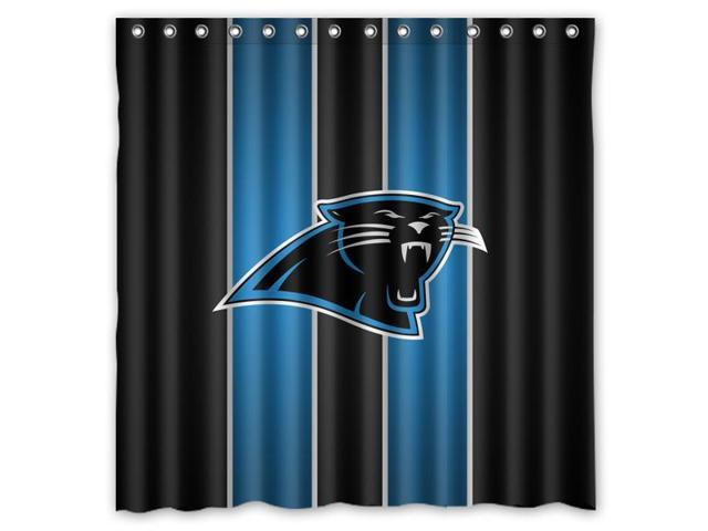 Carolina Panthers 02 NFL Design Polyester Fabric Bath Shower Curtain 180x180 Cm Waterproof And Mildewproof Curtains Pattern01