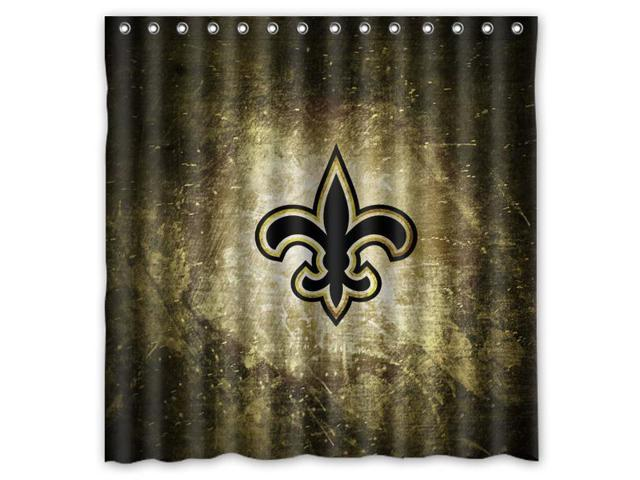 New Orleans Saints 02 Nfl Design Polyester Fabric Bath Shower Curtain 180x180 Cm Waterproof And Mildewproof
