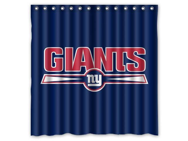 New York Giants 03 NFL Design Polyester Fabric Bath Shower Curtain 180x180 Cm Waterproof And Mildewproof