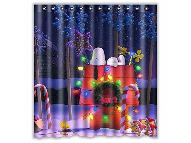 """Cartoon Character Snoopy Waterproof Polyester Shower Curtain 66/"""" x 72/"""""""