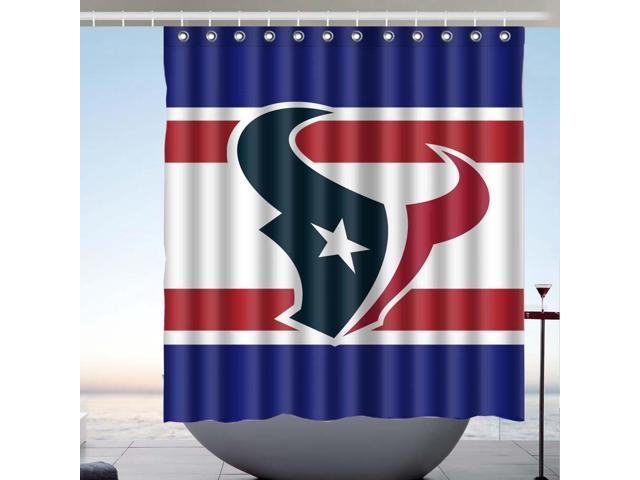 Houston Texans NFL 01 Fans Bath Shower Curtain 66x72 Inch