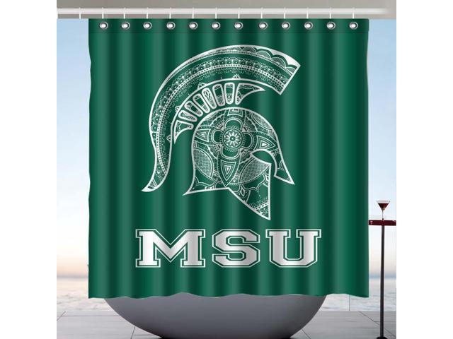 Michigan State Spartans 01 Design Polyester Fabric Bath Shower Curtain 180x180 CM