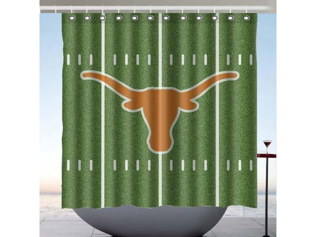 Texas Longhorns Design Polyester Fabric Bath Shower Curtain 180x180 CM