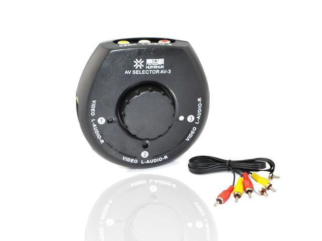 iKKEGOL 4 Way 3 Input 1 Output Audio Video Game AV Switch Switcher