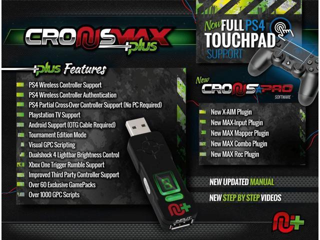 CronusMax Plus Add On Rapid Fire Controller Adapter for PS3 PS4 Xbox One  360 - Newegg com