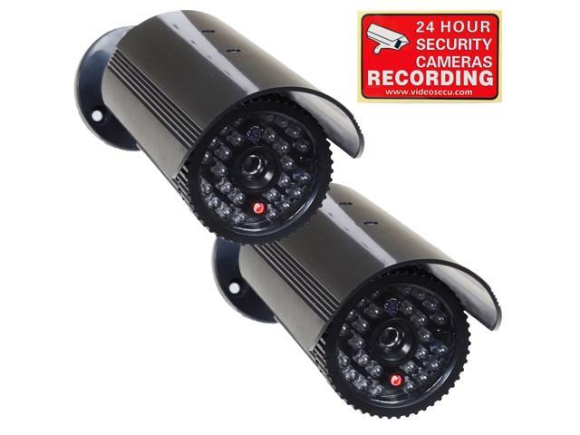 Dummy Fake Surveillance Security Dome Camera 25 LED IR Color Night Light Video