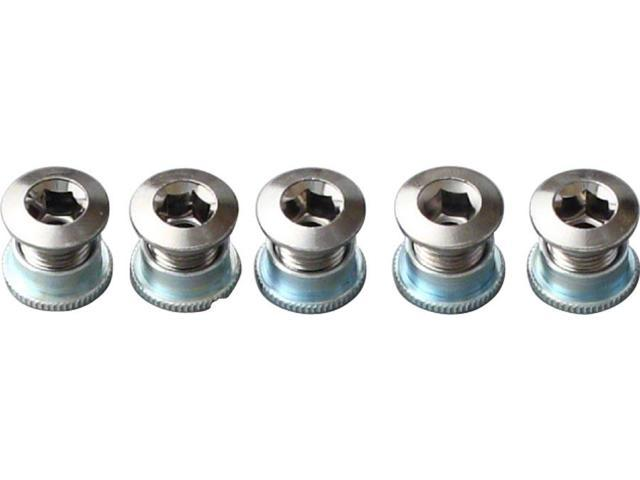 Origin8 Bicycle Chainring Bolt Set Double Steel Chrome