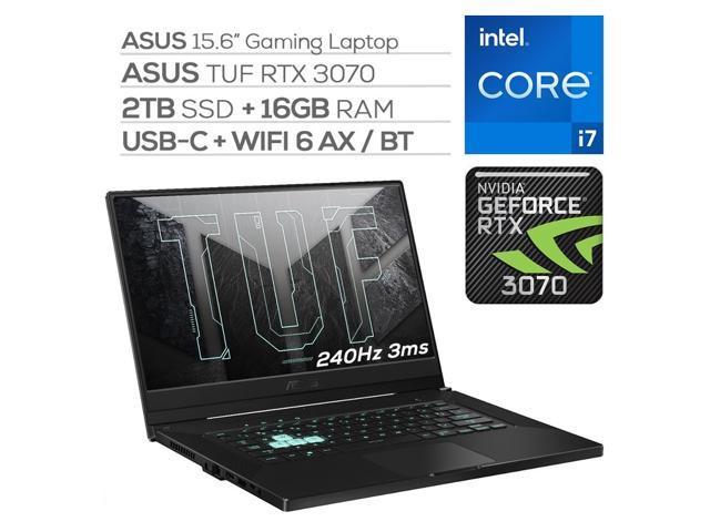 "ASUS TUF 3070 Gaming Laptop, 240Hz 3ms FHD 15.6"" Display, Intel Core i7-11370H, GeForce RTX 3070 8GB GDDR6, 16GB RAM, 2TB SSD, Thunderbolt 4, Backlit KB, WiFi 6, Ethernet, Win 10"