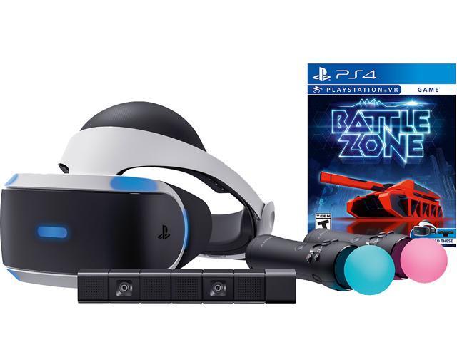 PlayStation VR Battlezone Starter Bundle (4 items): VR Headset, 2 Move  Motion Controllers, PlayStation Camera, PSVR Battlezone Game Disc -  Newegg com