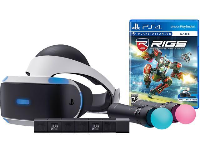 Playstation Vr Rigs Starter Bundle 4 Items Vr Headset 2 Move Motion Controllers Playstation Camera Rigs Mechanized Combat League Game Disc Newegg Com