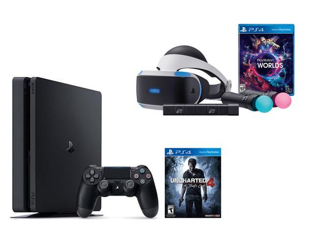 Playstation Vr Uncharted 4 Launch Bundle 6 Items Ps4 Slim 500gb