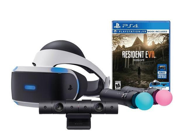 Sony PlayStation VR Resident Evil 7: Biohazard Starter Bundle (4 items): VR  Headset, Move Controller, PlayStation Camera Motion Sensor, Resident Evil