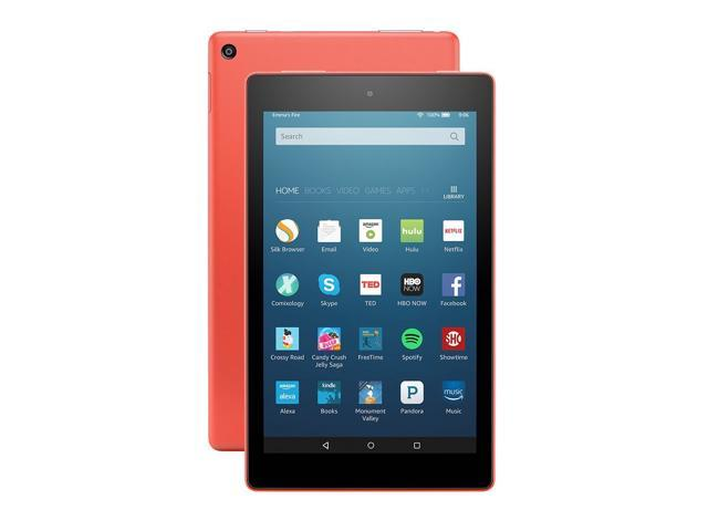 89ef76b6eaa1ba Fire HD 8 Tablet with Alexa, 8 inch HD Display, 32 GB, Tangerine ...