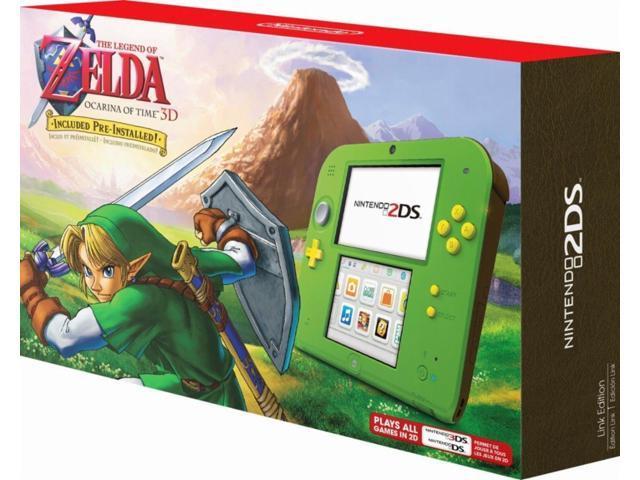 Nintendo 2DS with The Legend of Zelda: Ocarina of Time 3D (Link Edition) -  Newegg com