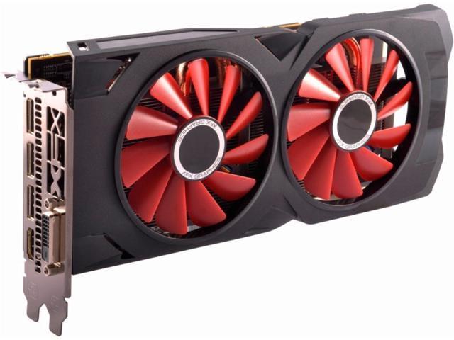 XFX RS Black RX 570 OC+ 4GB DDR5 3xDP HDMI DVI w/Custom Backplate -  Newegg com