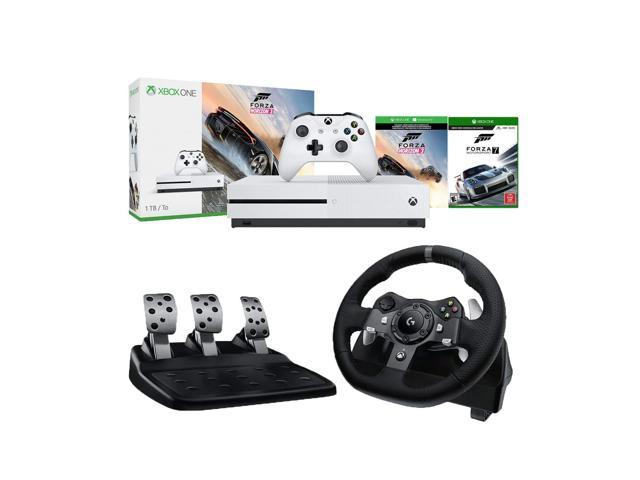 Microsoft Xbox One S Forza Horizon 3 and Motorsport 7 1TB Console and  Logitech G920 Driving Force Racing Wheel (For Xbox One and PC) Bundle -
