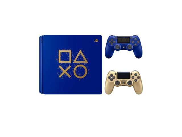 Playstation 4 Days of Play Limited Edition 1TB Slim Console with Extra Gold  Dualshock 4 Wireless Controller Bundle - Newegg com