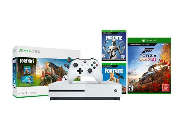 Xbox One S Battle Royale FH 4 Bundle: Fortnite, Eon Cosmetic, 2,000  V-bucks, Forza Horizon 4 and Xbox One S 1TB Gaming Console – White -  Newegg com
