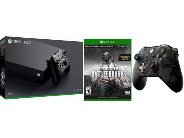 Xbox One X PUBG Chicken Dinner Bundle: Limited Edition PLAYERUNKNOWNS  BATTLEGROUNDS Wireless Controller feat PUBG Full Game and Xbox One X 4K HDR  1TB