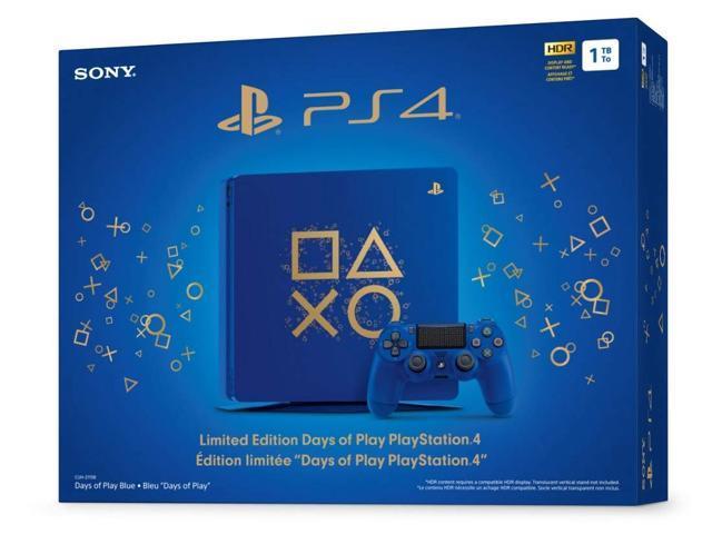 PlayStation Battle Royale Fortnite Frostbite and Royale Bomber Limited  Bundle: Days of Play 1TB PlayStation 4 Slim Console, 1500 V-Bucks,  Frostbite