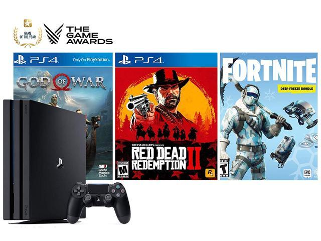 PlayStation Game of The Year Collector's Bundle: God of War, Red Dead  Redemption 2, Fortnite 1000V-Bucks with Frostbite Skin Set and PlayStation  4 4K