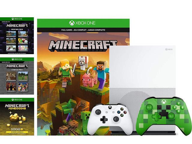 Microsoft Xbox One S 1TB Minecraft Creators Bundle: 1000 Minecoins, Starter  and Creators Pack, Full Game Download and Xbox One S 1TB Bundle with Extra