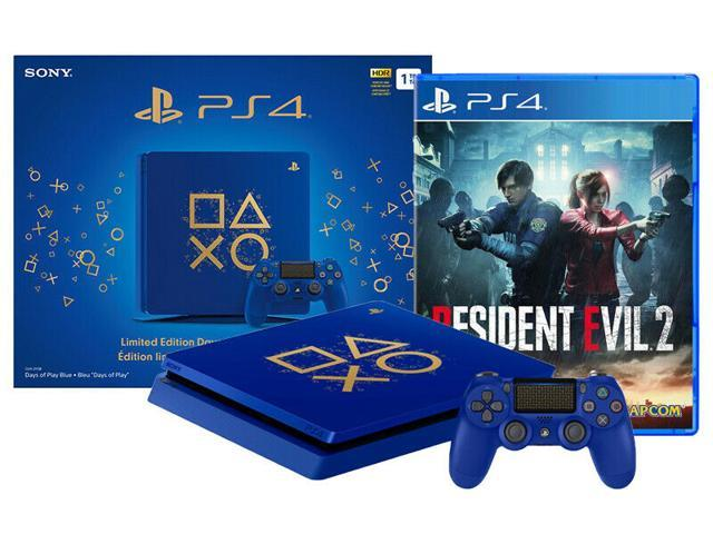 PlayStation 4 Slim 1TB Days of Play Limited Bundle with Resident Evil 2  Remake - Newegg com