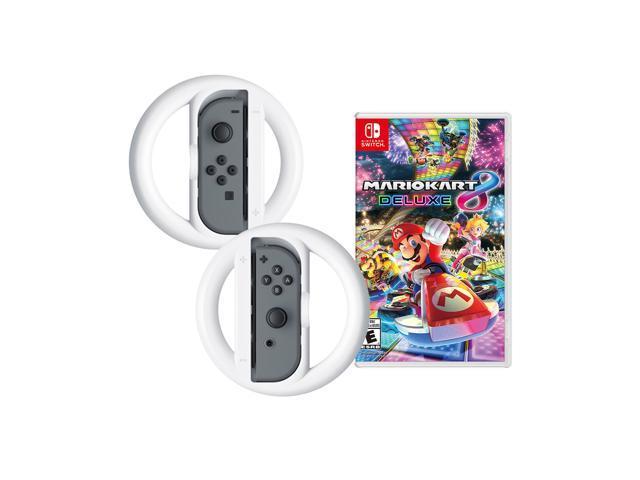 Nintendo Switch Joy Con L R Gray Mario Kart 8 Deluxe