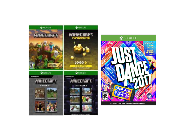 Xbox One Game Just Dance 2017+Minecraft Full Game(Digital Code) Bundle:  Have Fun with Families and Friends - Newegg com