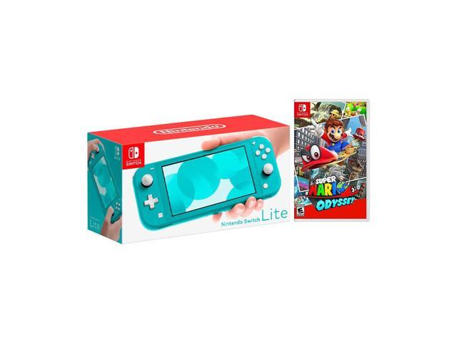 2019 New Nintendo Switch Lite Turquoise Bundle With Super Mario Odyssey Ns Game Disc 2019 Best Game