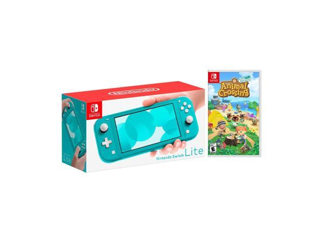 Nintendo Switch Lite Turquoise Bundle With Animal Crossing New Horizons Ns Game Disc 2020 Best Game Newegg Com