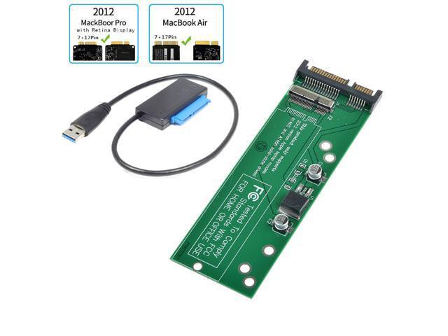 mSATA SSD To SATA 7+17Pin Adapter Converter Card for Apple 2012 MacBook Pro