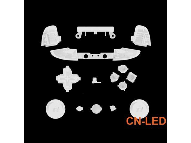 WPS Matte Transparent Clear ABXY Dpad Triggers Full Buttons Set Mod Kits  for Newest Xbox One Slim/Xbox one S Controller with Screwdriver (Torx T6  T8)