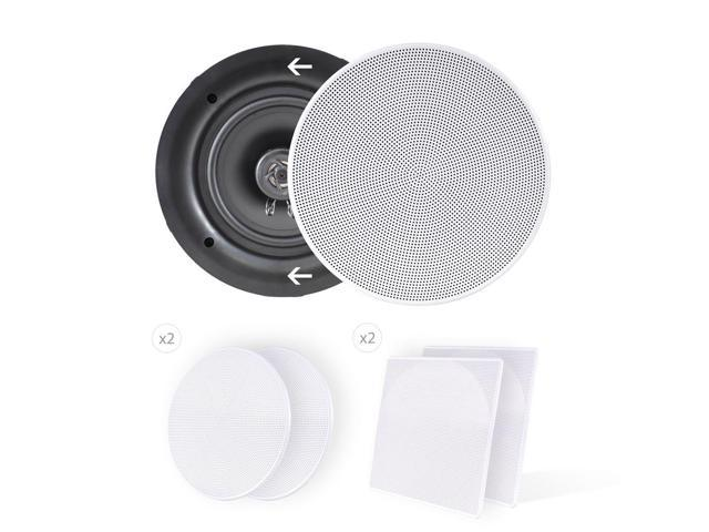 """Pyle PDIC56 PAIR of 5.25/"""" In-Wall//In-Ceiling 150W 2-Way Flush Mount speakers"""