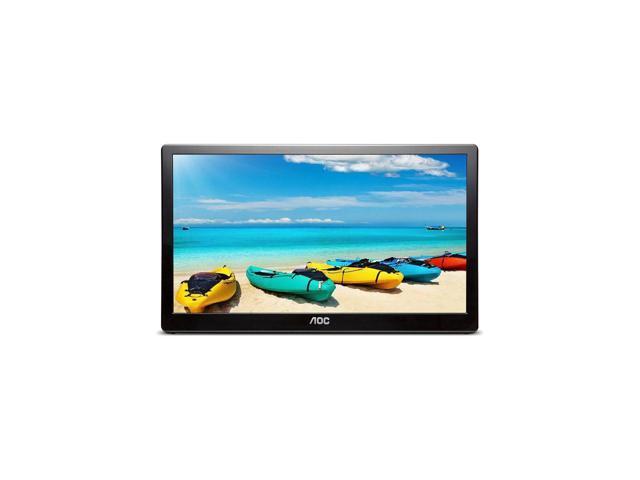 "Refurbished: AOC I1659FWUX 15.6"" USB-Powered Portable Monitor, Full HD 1920x1080 IPS, Built-in Stand, VESA"