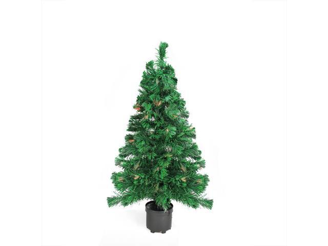 2' Pre-Lit Clear Lights Fiber Optic Artificial Christmas