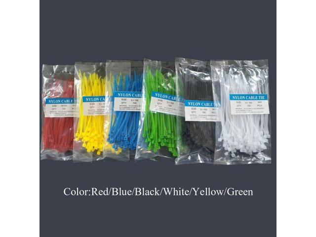 100Pcs//pack Colorful Factory Standard Self Locking Nylon Cable Ties Wire Zip