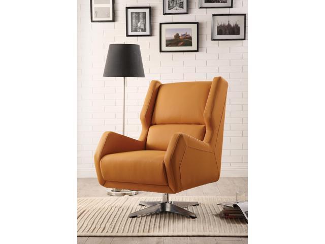 Cool Eudora Ii Accent Chair Orange Leather Gel Newegg Com Pdpeps Interior Chair Design Pdpepsorg