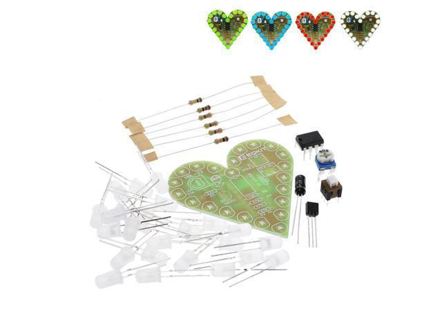DC 4V-6V DIY Heart Shape Breathing Lamp Kit Electronic Red//White//Blue//Green