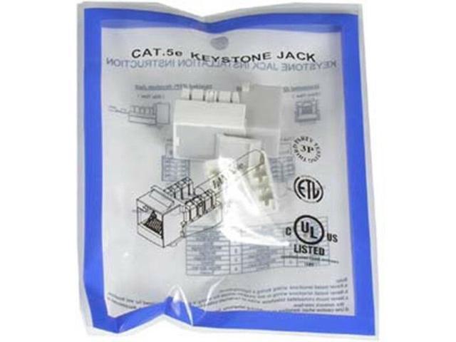 6x RJ45 Cat6 Keystone Jack Snap-in Network LAN Ethernet 110 Punch Down Gray