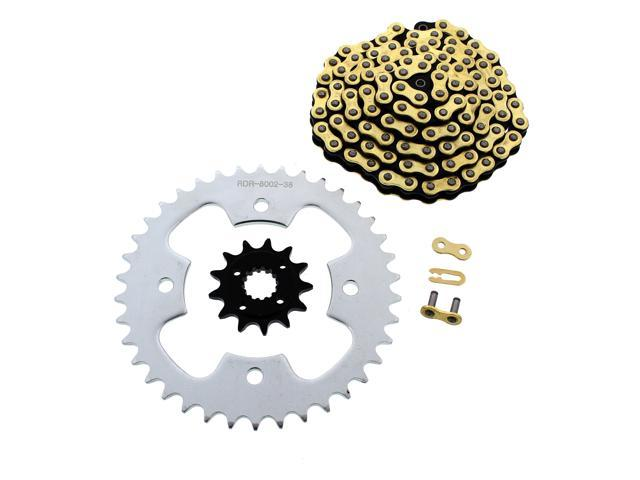 2005-2008 Fits Honda 400EX TRX400EX CZ Gold MX Chain /& Silver Sprocket 13//36 104L