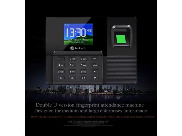 A-C030 New Fingerprint attendance machine ID card attendance punch card  machine in English Backup battery Network communication - Newegg com