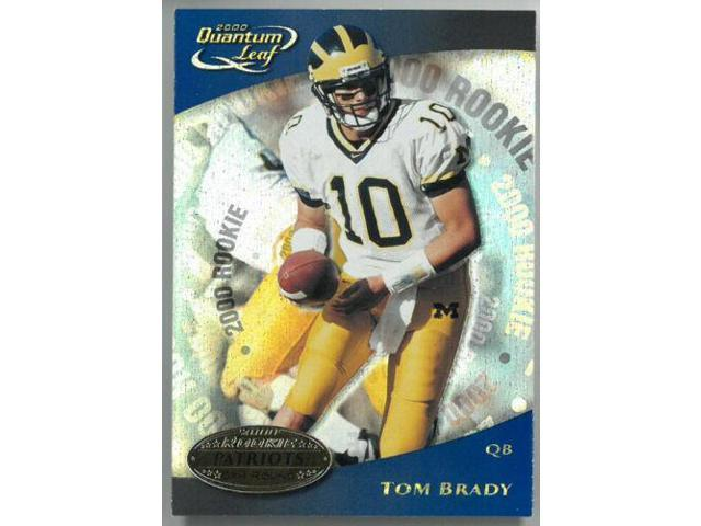 Tom Brady 2000 Donruss Quantum Leaf Rookie Card Rc 343 Patriotsmichigan Neweggcom