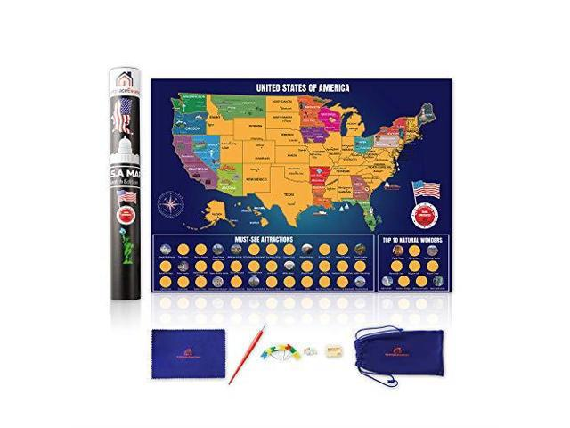 Scratch Off Map of The United States Brilliant Color Travel ... on us sightseeing map, fun united states map, united states north carolina attractions, top u.s vacation destinations map, chinese hong kong mtr map, usa map, united states nature map, streets of new york city map, united states natural attractions, united states fishing map, travel destinations united states map, united states map rivers only, united states tourist attractions, united states antiques map, united states golf map, large blank united states map, printable labeled united states map, united states flights map, united states map with state parks,