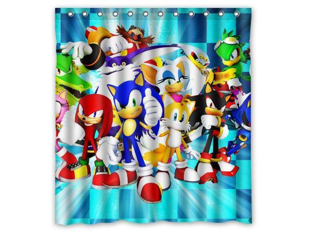 Eco Friendly Waterproof Shower Curtain Sonic The Hedgehog Bathroom Polyester Fabric Shower Curtain Size 66 W 72 H Newegg Com