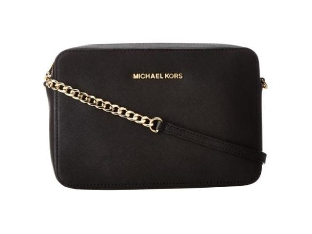 a2899a5cf1ac Michael Kors Jet Set Travel Large East West Crossbody - Black ...