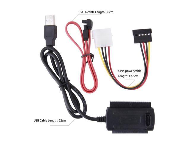 New USB 2.0 to IDE SATA S-ATA//2.5//3.5 Adapter Cable Support Windows 2000//ME ED